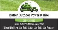 Butler Outdoor Power & hire  Will Butler